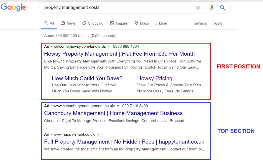 letting agent top search
